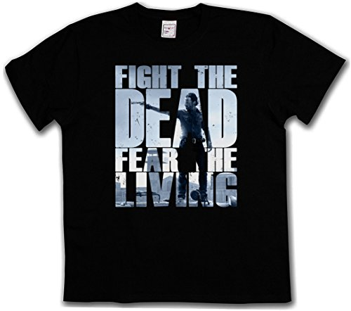 FIGHT THE DEAD FEAR THE LIVING III T-SHIRT - Daryl Dixon The Walking Biters Dead Walkers Zombies Zombi Taglie S - 5XL