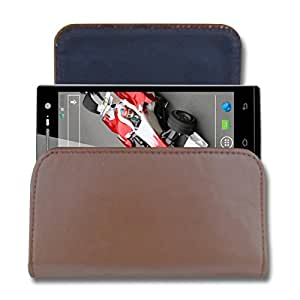 CaseCart Leather Water Resistant Pouch for Xolo Q700s