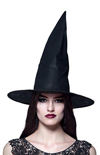 Boland 96918 - Hexenhut Ursula für Erwachsene, Einheitsgröße, schwarz (Klassische Hexe Erwachsene Kostüme)