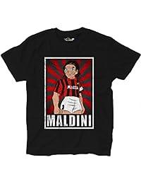 Camiseta Fútbol Camiseta Vintage Maldini Milan Legend parodia Holly e Benji Grun,…