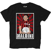 Camiseta Fútbol Camiseta Vintage Maldini Milan Legend parodia Holly e Benji Grun, Black Opal