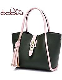 dd9fb14add6fa XUZISHAN Damen Leder Bag Eine Schulter Messenger Crossbody Fashion  Handtasche Quasten
