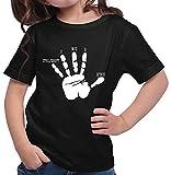 HARIZ  Mädchen T-Shirt Gamer Hand WASD Gamer Gaming Pixel WASD Geburtstag Plus Geschenkkarte Schwarz 140/9-11 Jahre