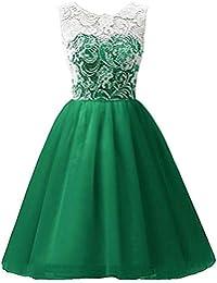 45ecb39e961c24 LSERVER-Mädchen Kinder Kleider Festlich Brautjungfern Kleid Prinzessin  Hochzeit Party Kleid Spitze Spleiß Chiffon…