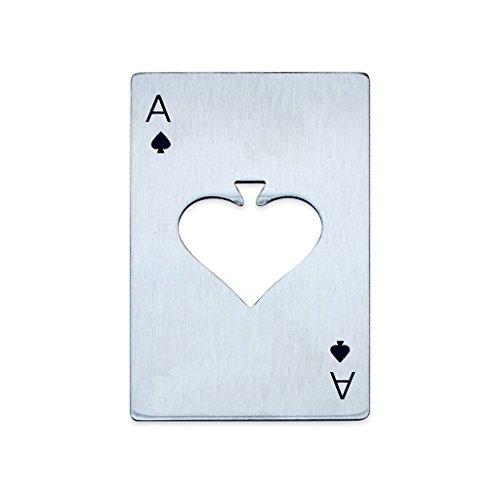 EFORCAR Edelstahl-Spielkarte Ace Bier-Öffner-Männer Geschenk Spades Poker-Stab-Werkzeug