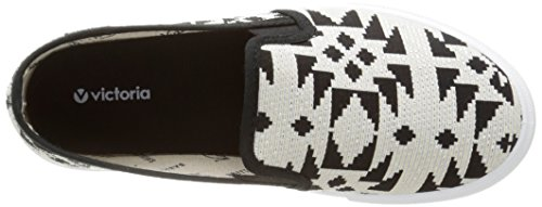 victoria Slip On Geometrico Unisex-Erwachsene Sneaker Schwarz - Noir (10 Negro)