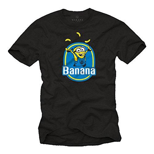 Banana Minions T-Shirt schwarz Größe XXXL