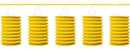 Girlande 360 cm gelb (Gelbe Laternen)