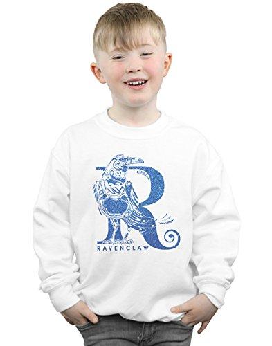 Harry Potter Jungen Ravenclaw Glitter Sweatshirt Weiß 5-6 Years - Herren Sweatshirt Glitter