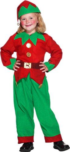 Imagen de smiffy's  disfraz de elfo infantil, talla s 3  5 años  24507s  alternativa