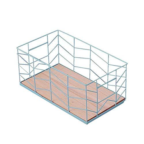 Richovernight Square Antique Iron Wire Storage Basket Ocean Ball Obst Gemüse Finishing Basket Fernbedienung Kosmetik Pink Bücher,Grün -