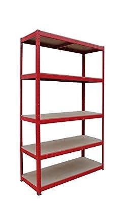 1 Warehouse Racking 5 Tier Shelving extra Heavy Duty 280kgs per Shelf