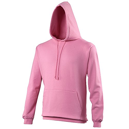 Pullover College Hoodie - 46 Different Colours Available Candyfloss Pink