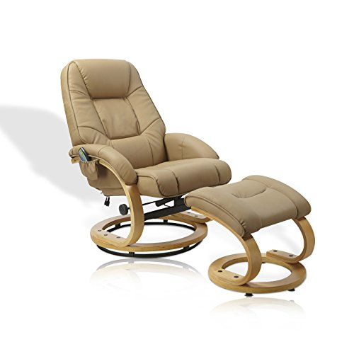 Unbekannt Massagesessel Sessel Massage Wärme Relaxsessel Fernsehsessel mit Hocker