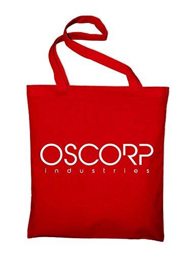 Oscorp Industries Logo Jutebeutel, Beutel, Stoffbeutel, Baumwolltasche, gelb Rot