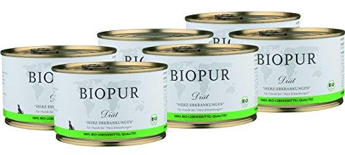 BIOPUR Bio Diätfutter bei Herz-Erkrankungen für Hunde 6x400g -