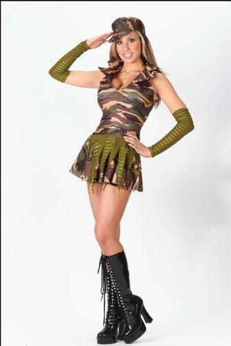 e Brat Women's, Halloween-Kostüm, Größe s/M (Gr. 86-122)#5177 (Army Halloween Kostüme)