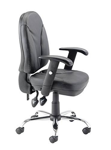 Best Saving for Office Hippo Office Chair with Adjustable Seat, Back and Arms, Leather – Black on Amazon