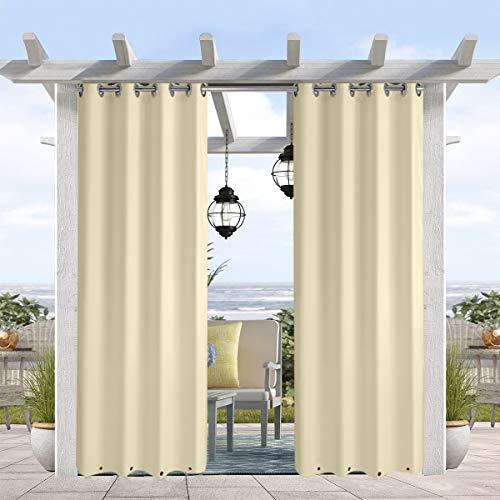 Vanilla Blast (Pro Space Gardinen für den Balkon - Wasser- und Winddichte Ösen, verdunkelnder Drape, 127 cm breit, 1 Paneel 50