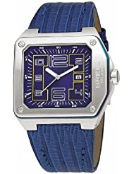 Breil Milano BW0386 - Reloj de caballero de cuarzo, correa de piel color azul claro
