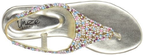Unze L21447W, Chaussons femme Or (Gold)