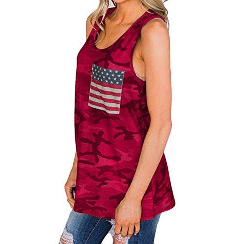 anische Flaggen Druck-Kurzschluss Hülsen-Blusen O-Ansatz Oberseiten T-Shirt (L, Rot) ()