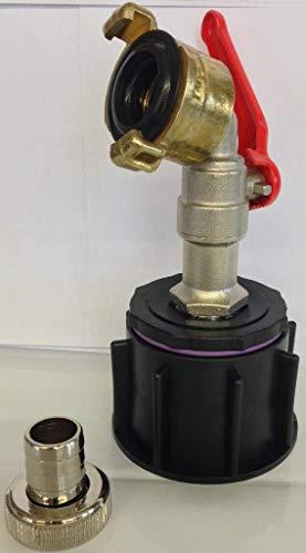 Ame60_mk3 100 robinet en laiton, avec kunststofftülle festkupplung-conteneur iBC-adaptateur-fitting-cANISTER