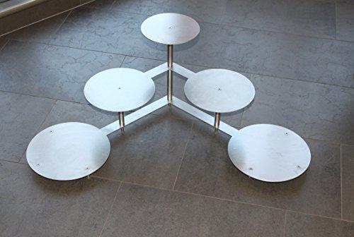 Support à gâteaux à étages en aluminium pour mariage tortenetagere 3 étages 5 plateaux : 20, 24 et 28 cm