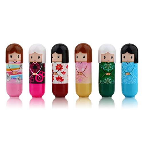 Kimono muñeca lápiz labial lindo patrón encantador