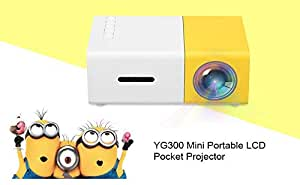 Osray YG - 300 Mini Portable LCD Pocket Projector Support 1080P Home Cinema Theater with USB/SD/AV/HDMI Input for DVD/Video Game/Home Entertainment/Outdoor Movie