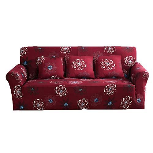 Fiore Beige Fiore 2pcs federe per Divano Couch Jian ya na L Forma Stretch copridivani Poliestere Spandex Fabric Fodera 2pcs Poliestere Elasticizzato Slipcovers Beige