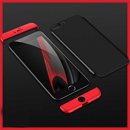 Coque iPhone 8,Coque iPhone 8 Plus Case 360 Protection Hard PC Housse 3 en 1 Full Body Cover Bumper Adamark Housse Integrale Bumper Etui Case Pour iPhone 8/8 Plus Or Rose