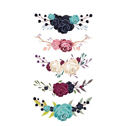 Jiamins 1 Stück Patch Sticker - Blume, DIY Druck Stickerei Applikation Für Decoreting Und Patching Jacket,T-Shirt,Hut,Kleid (12.44x22.53cm)