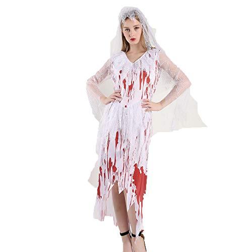 WANLN Halloween Party Geister Braut Cosplay Halloween Bloody Bridal Wear Kostüme,OneSize