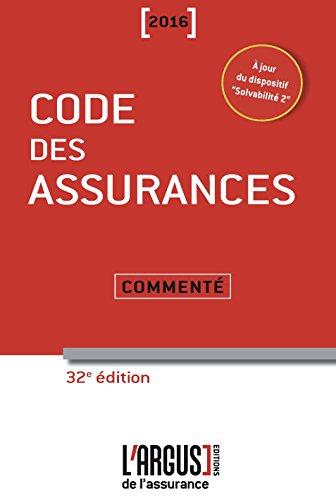 Code des assurances 2016 commenté