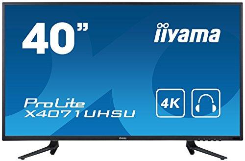 iiyama Prolite X4071UHSU-B1 100,3cm (39,5 Zoll) MVA LED-Monitor 4K UHD (VGA, HDMIx2, HDMI(MHL), USB 3.0, DisplayPort) Schwarz