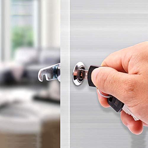 youtu 4 Stück Briefkastenschloss Möbelschlösser Zylinderschloss Verschiedenschließend Zylinder Cam Lock Schrankschloss Spindtürschloss Schubladeschloss mit 2 Schlüsseln (16mm) - 5