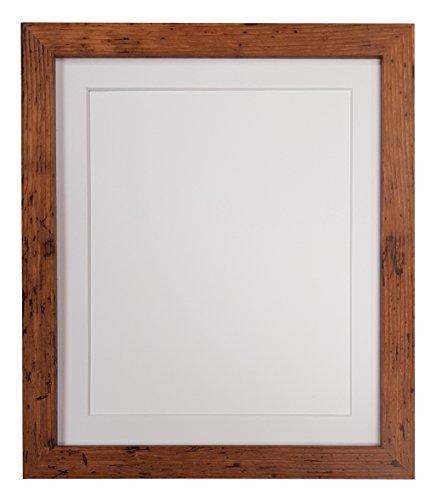 H7Bilderrahmen Holz Vintage mit Weiß, Schwarz, Elfenbein, Pink, Blau, Hellblau, GRYE und dunkelgrau ist passepartoutfähig, holz, White mount, 60 x 80 cm For Image size 50 x 70 cm