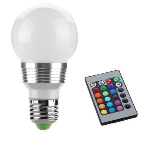 SODIAL(R) E27 LAMPADA BULBO LED LUCE RGB 230V 3W + TELECOMANDO