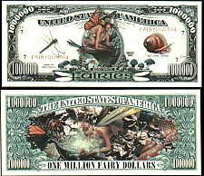Fairies Million Dollar Bill  With Bill Protector by American Art Classics