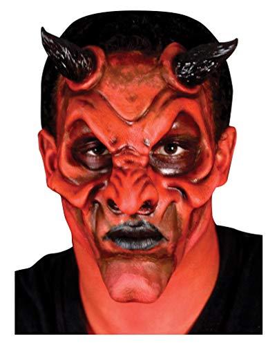 Horror-Shop Teufelsmaske als Latexapplikation zum Aufkleben - Halloween Make-up