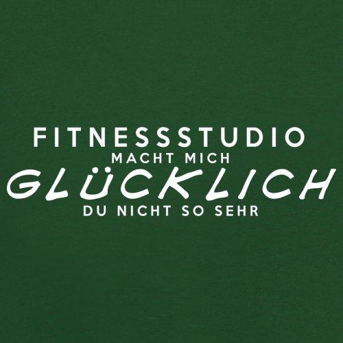 Fitnessstudio macht mich glücklich - Herren T-Shirt - 13 Farben Flaschengrün
