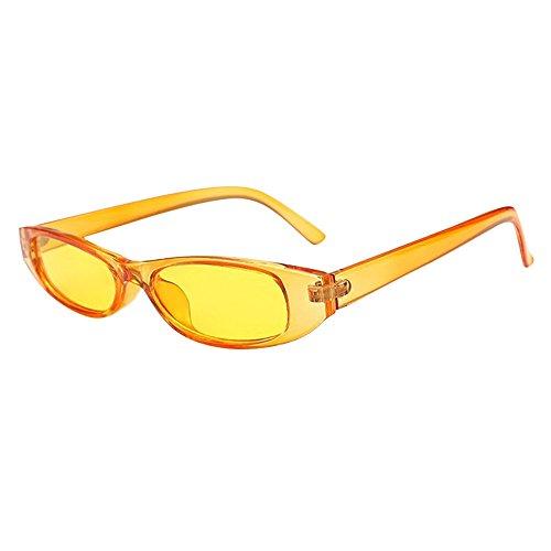 NINGSANJIN Sonnenbrille Retro Vintage Clout Cat Unisex-Sonnenbrille Rapper Oval Shades Grunge Brille K