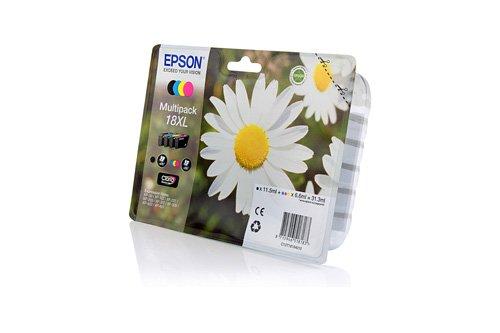 Preisvergleich Produktbild Original XL Tinte passend für Epson Expression Home XP-410 Series Epson 18XL C13T18164010 - 4x Premium Drucker-Patrone - Schwarz, Cyan, Magenta, Gelb - 1x470 & 3x450 Seiten