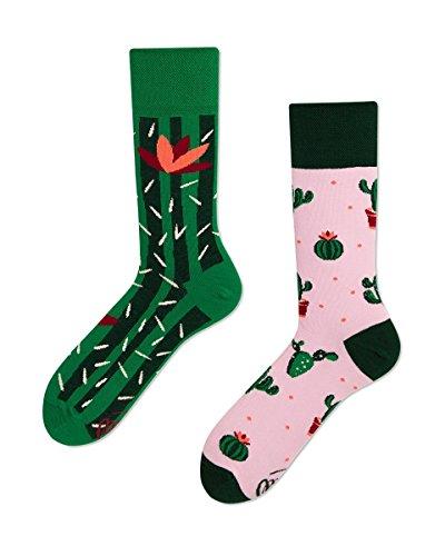 Verrückte Socken Many Mornings damen und herren crazy socks Sommer Kaktus socken (43/46)
