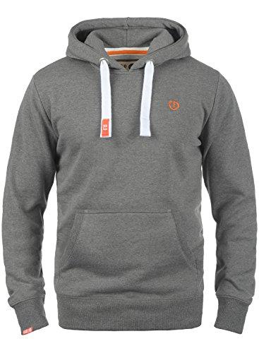 !Solid BennHood Herren Kapuzenpullover Hoodie Pullover mit Kapuze und Fleece-Innenseite, Größe:S, Farbe:Grey Melange (8236)