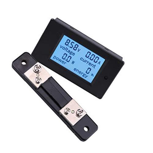 DC LCD 4-en-1 multi-fonction compteur Tension Courant Puissance compteur d'énergie électrique Noir 100A DC LCD Quatre-en-un multi-fonction 20 mètres / 50 / 100A Digital LCD Tension Courant Puissance é
