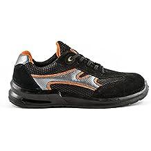 dc9d211481b15 Zapatillas de Seguridad Laboral de Hombre Zapatos de Trabajo ultraligeros  con Puntera de Acero 5553 Black