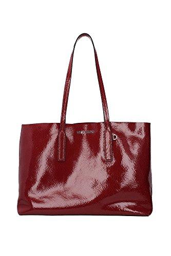 Borse Shopping Miu Miu Donna Pelle Rosso e Argento 5BG024ROSSO Rosso 16x28x38 cm