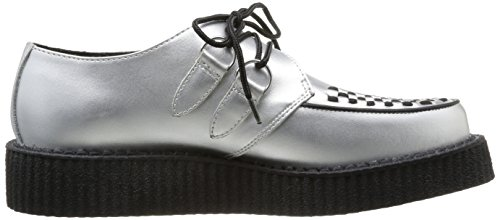 TUK Lo Sole Creeper, Baskets mode mixte adulte Argent (Silver Leather/Black Interlace)